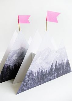 Printable Photoreal Mountain Box