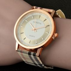 ARE YOU READY TO UPLIFT YOUR LIFE WITH THE NEWEST GENEVA WOMENS WATCH?     Blend your love with style and fashion with this refined Geneva fashion watch Premium multicolor plaid leather band few in Stock Only 40g Weigh Free worldwide shipping & 100% Money Back Guarantee