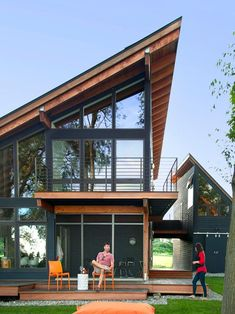 Modern Lakefront Home With Steep Angled Roof | 2015 Fresh Faces of Design Awards | HGTV