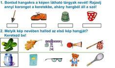 FELADATOK A HANGOKRA BONTÁS GYAKORLÁSÁHOZ - webtanitoneni.lapunk.hu Learning, School, Logo, Logos, Studying, Teaching, Onderwijs, Environmental Print