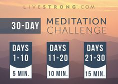 30-Day April Meditation Challenge | LIVESTRONG.COM