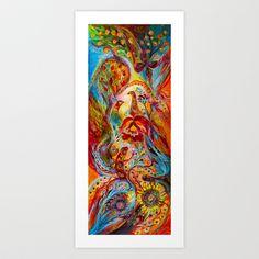 Flowers and Fruits Art Print by Elena Kotliarker - $19.76