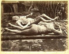 Italia, Pompei, Impronte umane     #Europe #Italia #Pompéi_Pompei