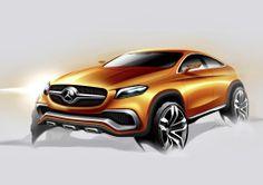 """""""Als Coupé sinnlich – als SUV visionär!"""", mit diesen knappen Worten skizziert Gorden Wagener, Chefdesigner von Mercedes-Benz, die Physiognomie des Concept Coupé SUV."""