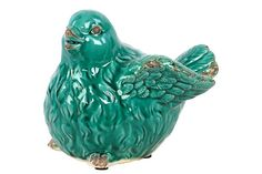 Antiquated Sweet and Gorgeous Flying Ceramic Bird Figurine