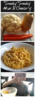 butterbut squash, cauliflower and carrot mac and cheese
