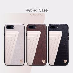 NILLKIN flip cover hard back case for iphone 7 elegant crocodile pattern PC+PU leather phone cases for iphone 7 plus protection