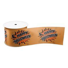 #Happy Halloween Satin Ribbon - #Halloween happy halloween #festival #party #holiday