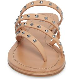 58d1a9bf1df2d9 Patos Studded Thong Sandal, Alternate, color, Natural Vachetta Tory Burch,  Sandal,