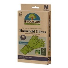 The If You Care Household Cleaning Gloves are perfect for dishwashing, oven cleaning, household cleaning, gardening, and more. Each glove is made from FSC Certified latex and contains no fillers so they remain super strong throughout use. Cleaning Gloves, Natural Cleaning Products, Eco Products, Sustainable Products, Household Products, Natural Products, Green Cleaning, Green Life, Sustainable Living
