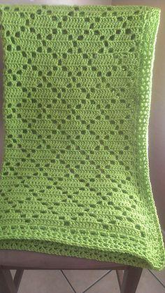 Diamond Lace Baby Afghan; similar free pattern: http://lacycrochet.blogspot.com/2014/02/diamond-stitch-baby-blanket-free-pattern.html?m=1