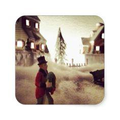 Cold Winter Town Sticker