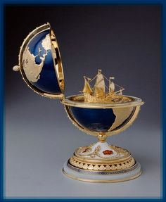 Faberge Jewelry, Headpiece Jewelry, World Globes, Oeuvre D'art, Things To Buy, Les Oeuvres, Decorative Bowls, Sculptures, Jewels