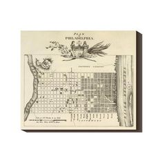 Philadelphia City 1824 22x19 Map by Axel Leonhard Klinckowstrom now featured on Fab.