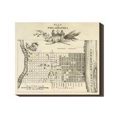 Philadelphia City 1824 22x19 Map by Axel Leonhard Klinckowstrom now featured on Fab.