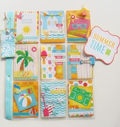 Pocket Letters ❤ Summer themed pocket letter. Made by Kelly.C https://www.facebook.com/Kelspaintedparadise/