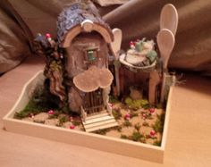 OOAK Fairy House: Kitchen Cutie