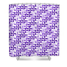 Purple Passion #ShowerCurtain by Sharon Norman #homedecor