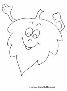 disegni, idee e lavoretti per la scuola dell'infanzia... e non solo Felt Patterns, Applique Patterns, Fall Coloring Pages, Coloring Books, Fall Arts And Crafts, Crafts For Kids, Autumn Art, Autumn Leaves, Quiet Book Templates