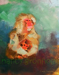 Items similar to I'll Keep You Safe And Warm - Japanese Snow Monkey oil painting reproduction on Etsy Snow Monkey, Oil Painting Reproductions, Japanese, Warm, Monkeys, Handmade Gifts, Cheer, Sunday, Inspire