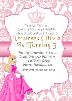 Sleeping Beauty Invitaiton PrincessesPrincess Invitation Disney PrincessesDisney PrincessAurora BirthdayPrintable