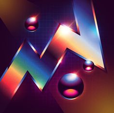 Canadian artist and designer James White is behind a collection entitled Neo-Chrome in which he gathered abstract digital artworks inspired by artistic aestheti Design Food, Design Café, James White, New Retro Wave, Retro Waves, 80s Aesthetic, Aesthetic Design, Daft Punk, Design Presentation