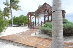 Grand Sunset Princess and Riviera Princess. Two resorts side by side in Riviera Maya. Beach front wedding gazebo