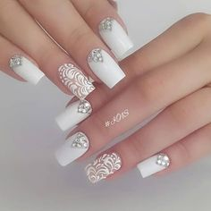 Once you've ticked off the wedding dress and venue, narrowed down the guest list and picked your perfect undo, the only thing left to do is find your suitable wedding nails. If you're subtle… Natural Wedding Nails, Simple Wedding Nails, Wedding Nails For Bride, Bride Nails, Wedding Nails Design, Wedding Dress, Wedding Ceremony, Cute Nails, Pretty Nails