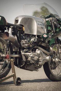 douglas-macrae:  1968 Norton Dunstall 'Drainpipe' Norton race...