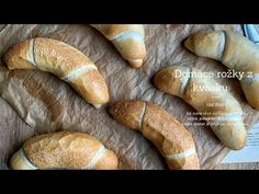 Kváskovanie Archives - Page 2 of 4 - Nelkafood Croissants, Bread Recipes, Bakery, Food And Drink, Youtube, Watch, Loaf Recipes, Clock, Crescents