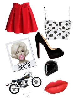 """50's"" by fashion4eva7 on Polyvore featuring Chicwish and Christian Louboutin"