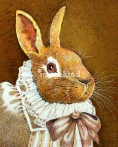 Victorian Rabbit III Art Prints by Wendy DeWitt - Shop Canvas and Framed Wall Art Prints at Imagekind.com