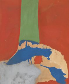 "COLLECTION OF FRANCINE DU PLESSIX GRAY HELEN FRANKENTHALER 1928 - 2011 BELFRY signed and dated 1964 on the stretcher oil on canvas 27 by 22"" via Sotheby's"