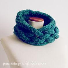 Cowl knit pattern neckwarmer Weave pdf - winter trendy cool MEN accessories PHOTO tutorial knitting pattern. $6.00, via Etsy.