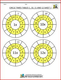 printable times tables worksheets circle times tables 11 and 12 sheet 2 out of sequence 6 Times Table Worksheet, Printable Times Tables, Times Table Chart, Times Tables Worksheets, Worksheets For Kids, Multiplication Table Printable, Free Multiplication Worksheets, Maths Times Tables, Math Tables