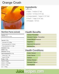 Orange Crush | Juice Recipes