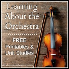 Learning About the Orchestra - free printables and unit studies