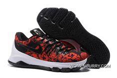 dd776fa4a41e Nike KD 8 EXT Floral Finish Black Black-Gym Red-Summit White
