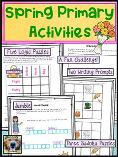 Printable logic puzzle worksheets for kids will provide hard critical thinking challenges with answers and grids Primary Activities, Spring Activities, Teaching Activities, Teaching Resources, Teaching Ideas, Education Quotes For Teachers, Elementary Education, Middle School Classroom, Logic Puzzles