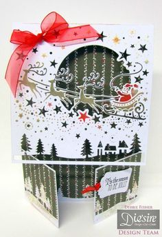Create a Card Christmas - September 2014 - Crafter's Companion Portfolio Hand Made Greeting Cards, Making Greeting Cards, Christmas Cards, Sheena Douglass, Crafters Companion Cards, September 2014, Christmas 2017, Projects To Try, Create