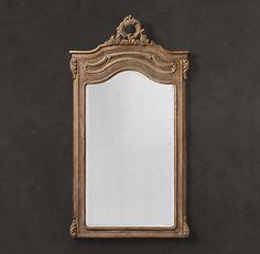 Carved Pediment Mirror | Restoration Hardware | 42 x 76 | 1395.00
