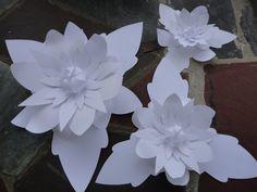 Large Paper Flowers  Wedding Flower Backdrop by PoshStudios, $80.00