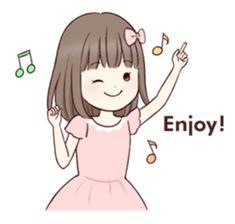Little girl 1 – LINE stickers Love Cartoon Couple, Cute Love Cartoons, Girl Cartoon, Cute Cartoon, Good Day Images, Cute Love Images, Cute Love Gif, Kawaii Doodles, Cute Doodles
