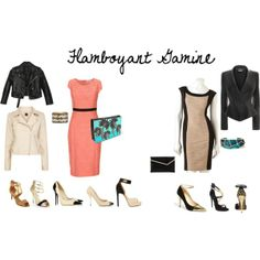 """""""Flamboyant Gamine- formal"""" by britt-galbraith on Polyvore  if only I could rock black!"""