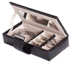 Travel Jewelry Case.... i like this one better than my current one...  http://www.qvc.com/Mele-&-Co.-Justine-Faux-Leather-Croco-Travel-Jewelry-Case-Search-Results.product.H366099.html?sc=H366099-SRCH_sp=VIEWPOSITION-_-4-_-H366099=http://images-p.qvc.com/is/image/h/99/h366099.001?$uslarge$