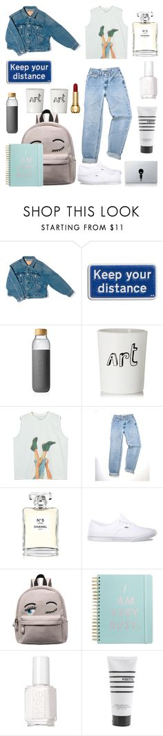 """""""DenimPhase!"""" by rjizzle ❤ liked on Polyvore featuring Balenciaga, Anya Hindmarch, Soma, Bella Freud, Chicnova Fashion, Chanel, Vans, ban.do, Essie and Pirette"""