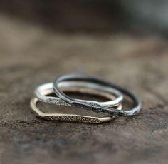 14k gold stardust ring