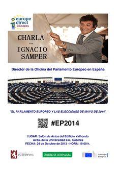 Charla con Ignacio Samper, Director de la Oficina del Parlamento Europeo en España Octubre 2012