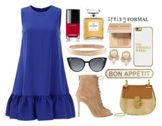 """""""Bez naslova #235"""" by dzchocolatess ❤ liked on Polyvore featuring Cynthia Rowley, Gianvito Rossi, Chloé, Pier 1 Imports, Fendi, BaubleBar, Carolee, Chanel and Bobbi Brown Cosmetics"""