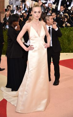 Elle Fanning from Met Gala 2016: Red Carpet Arrivals  In Thakoon